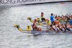 o verão de Hong Kong Dragon Boat Carnival fotografia de stock