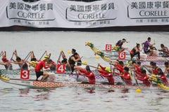 o verão de Hong Kong Dragon Boat Carnival fotos de stock royalty free