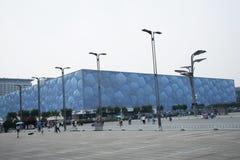 O verão 2008 do Pequim o Estádio Olímpico, o centro de natação nacional, Imagens de Stock Royalty Free