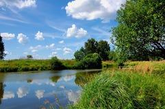 O verão era Dia de verão similar perto do lago imagens de stock royalty free