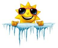O verão esfria para baixo ilustração stock