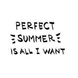 O verão perfeito é tudo que eu quero a rotulação Foto de Stock