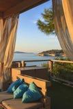 O verão relaxa As costas as mais bonitas de Itália: baía de Vieste - Apulia, Gargano - Imagem de Stock