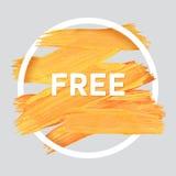 O verão relaxa em volta do cartaz acrílico do curso Rotulação do texto de um provérbio inspirado Molde tipográfico do cartaz das  Foto de Stock Royalty Free