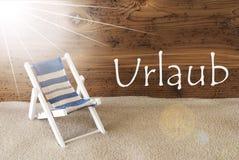 O verão Sunny Greeting Card, Urlaub significa o feriado Fotos de Stock Royalty Free
