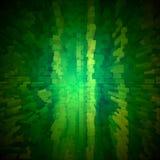 O verde abstrato cuba o fundo Imagens de Stock