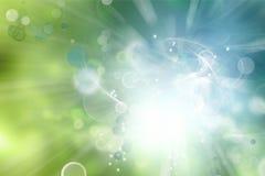 O verde azul circunda o fundo abstrato ilustração stock