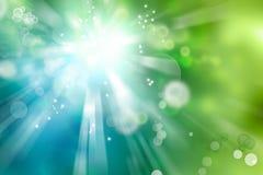 O verde azul circunda o fundo abstrato ilustração royalty free