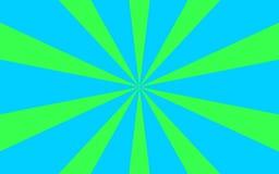 O verde azul irradia a imagem de fundo Fotografia de Stock