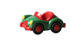 O verde brinca o carro no plástico 2 Foto de Stock Royalty Free