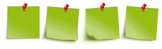 O verde cola os pinos do vermelho do encabeçamento ilustração stock