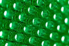 O verde conduziu o painel de indicador do diodo Fotografia de Stock Royalty Free