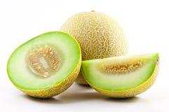 O verde cortou o Cantaloupe foto de stock royalty free