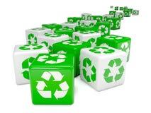 o verde 3d recicla dados Foto de Stock