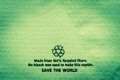 O verde da arte abstrato recicla o tecido Imagem de Stock