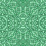 O verde de mar detalhou o teste padrão sem emenda das telhas de mosaico fotos de stock