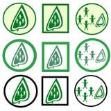 O verde deixa o ícone Fotografia de Stock Royalty Free
