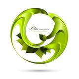 O verde deixa o fundo abstrato ilustração stock