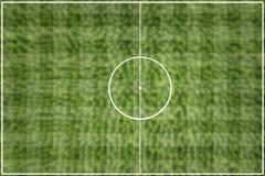 O verde do campo de futebol da grade Imagens de Stock Royalty Free