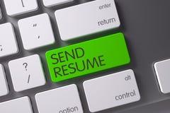 O verde envia o botão do resumo no teclado 3d Fotos de Stock