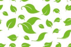 O verde folheia fundo sem emenda Teste padr?o sem emenda das ?rvores de floresta nave ilustração stock