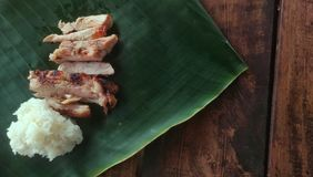 O verde fresco vegetal tailandês na tabela de madeira Fotos de Stock Royalty Free