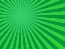 O verde irradia o fundo Fotos de Stock Royalty Free