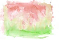O verde-lima vermelho dos carmesins e do verde misturou o fundo abstrato da aquarela Ele ` s útil para cartões, Valentim, letras  imagem de stock royalty free