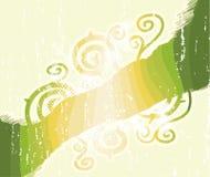 O verde listra redemoinhos florais Fotografia de Stock