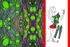 O verde marmoreou a tela para o vestido da mulher Imagem de Stock Royalty Free