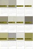 O verde na moda e o tundora coloriram o calendário geométrico 2016 dos testes padrões ilustração stock