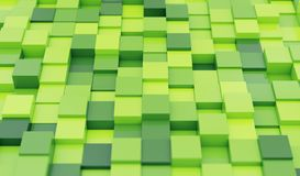 O verde obstrui o fundo abstrato ilustração stock
