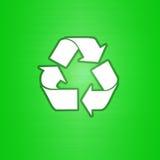 O verde recicl o símbolo Fotografia de Stock Royalty Free