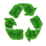 O verde recicl o sinal Imagens de Stock Royalty Free