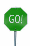 O verde VAI sinal Imagem de Stock Royalty Free