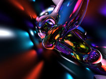 o vermelho 3D azul colorido abstrato rende o fundo Fotografia de Stock