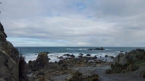 O vermelho balança a baía Nz da ilha Imagens de Stock Royalty Free