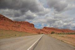 O vermelho balança a viagem por estrada Fotos de Stock Royalty Free