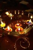 O vermelho Candles a flama do Xmas Foto de Stock