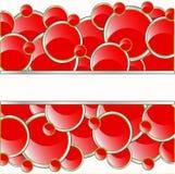 O vermelho circunda o fundo Fotos de Stock