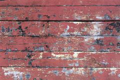 O vermelho coloriu a textura de madeira fotos de stock
