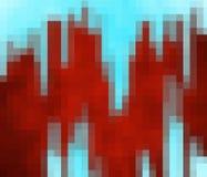 O vermelho corta em um fundo azul ilustração stock