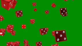 O vermelho corta no fundo verde capaz de dar laços em sem emenda ilustração stock