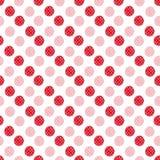 O vermelho da aquarela pontilha o teste padrão sem emenda Projeto moderno de matéria têxtil Textura do papel de envolvimento Imagens de Stock