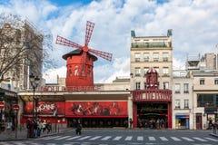 O vermelho de Moulin Imagem de Stock Royalty Free