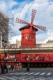 O vermelho de Moulin Fotografia de Stock Royalty Free