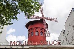 O vermelho de Moulin - Paris fotografia de stock