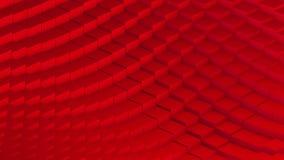 O vermelho de transforma o laço do cubo ilustração do vetor