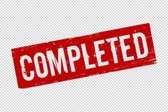 O vermelho do Grunge terminou o selo de borracha quadrado do selo ilustração royalty free