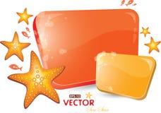 O vermelho e o orenge dão forma com mar-estrela Imagem de Stock Royalty Free